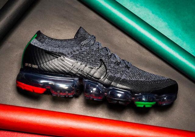 separation shoes fddb3 c14ed Nike Air Max VaporMax Flyknit BLACK HISTORY MONTH BHM GREY RED AQ0924-007  sz 15
