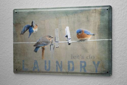 Tin Sign Retro Laundry