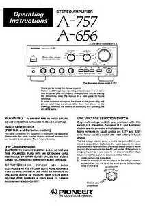 pioneer a 757 amplifier owners manual ebay rh ebay com pioneer owners manual download pioneer owners manual pnr001