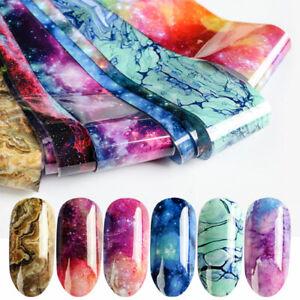 Nail-Foils-Transfer-Sticker-Psychedelic-Sky-Series-Nail-Art-Decoration-50cm-4cm