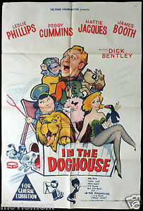 IN-THE-DOGHOUSE-Leslie-Phillips-Hattie-Jacques-ORIGINAL-One-Sheet-Movie-poster