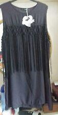 CHERRY BERRY BLACK DRESS WITH TASSELS