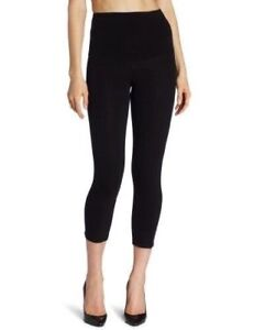 8b40150d9 Women s NWT HUE Ultra Tummy Shaping Capri Leggings Black Slimming ...