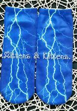 Blue Trainer Socks/Liners Size EU 36-39/UK 3-6 FORKED LIGHTNING