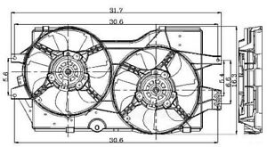 Engine-Cooling-Fan-Assembly-fits-1996-2000-Plymouth-Grand-Voyager-Voyager-GLOBA