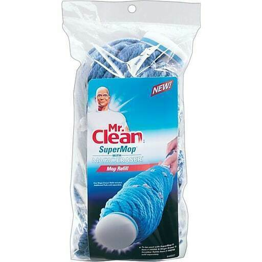 NEW 2 PK Mr Clean SuperMop with Magic Eraser Refill