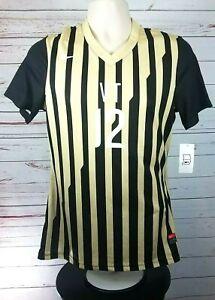 Nike VT Gold Black Striped Soccer Women's Jersey #12