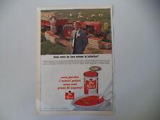 advertising Pubblicità 1967 POMODORI DE RICA e TRATTORE FIAT 411 R