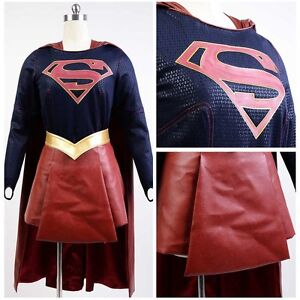 Details about CBS TV Supergirl Kara Danvers Cosplay Costume Adult Suit  Dress Skirt Outfit Cape