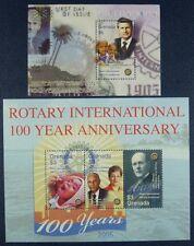 Grenada 2005 Rotary Kind Paul P. Harris R. D. King 5602-04 + Block 738 MNH