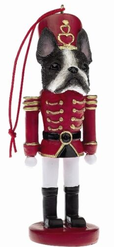 BOSTON TERRIER NUTCRACKER SOLDIER DOG ORNAMENT #76