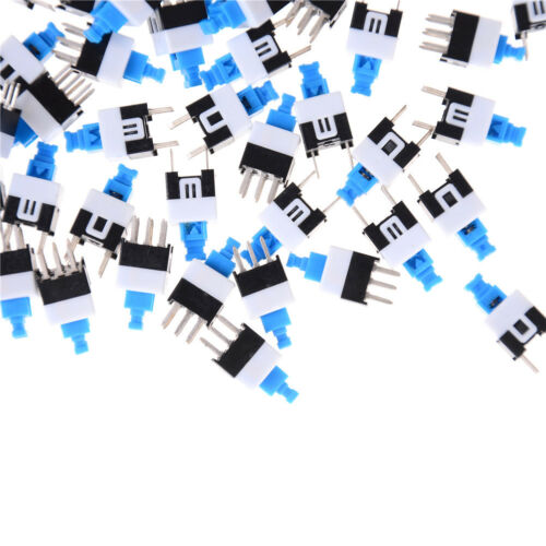 50Pcs 6-Pin Square 7mmx7mm Momentary DPDT Mini Push Button Switch .c