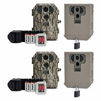Stealth Cam P18cmo 7mp Ir Game Trail Camera W/ Sd Card (2 Pack) + Security Boxes on sale