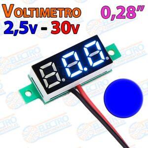 Acheter Pas Cher Mini Voltimetro 2,5v - 30v Dc 0,28 Pulgadas 2 Hilos - Azul - Arduino Electronica Officiel 2019