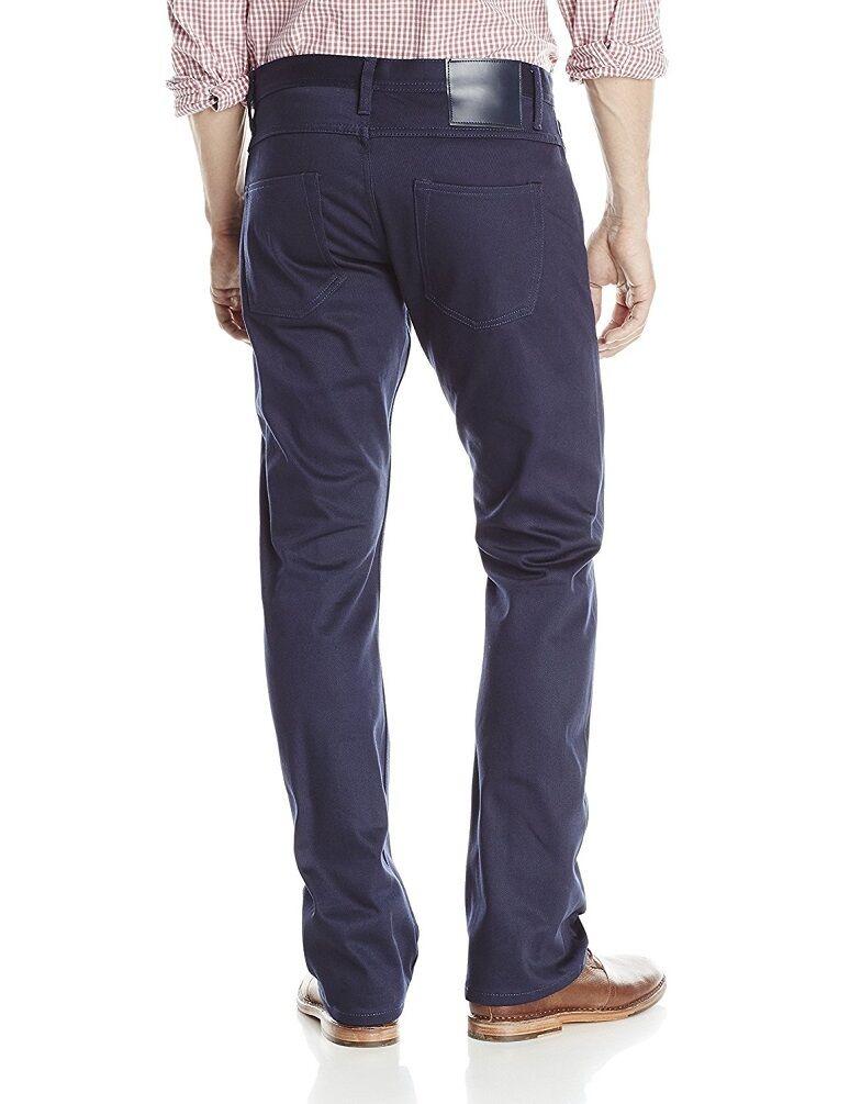 Der Unbranded Brand Ub308 Herren Gerade Kanten Chinohose Jeans Marine Neu 34