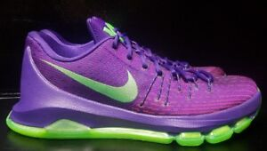 Animado Autocomplacencia años  Nike KD 8 Suit Mens Purple Green Durant Basketball New Shoes Size ...