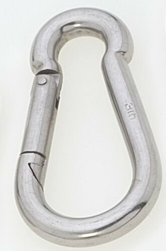 Viadana 316 Marine Stainless Steel 10mm x 100mm Carbine Carabiner Hook w//o Ring