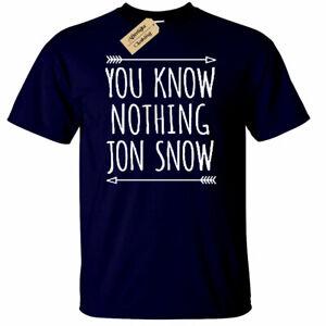 Uomo-You-Know-Nothing-T-Shirt-Divertente-TV-Show-Thrones-Regalo-Neve-di-Jon