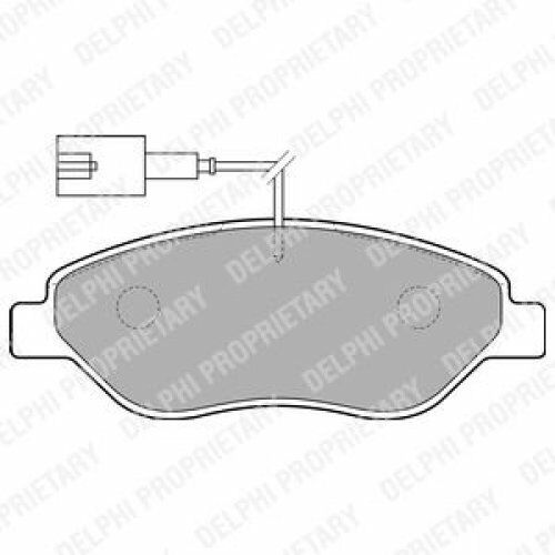 DELPHI Brake Pad Set, disc brake LP1720