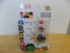 Tsum Tsum Marvel 3-Pack Gamora//Falcon//Spiderman Toy Figure Jakks 05544