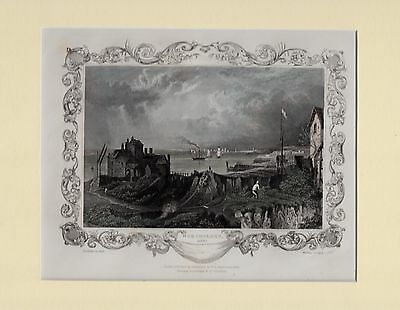 C1860s Hand Coloured & Mounted Engraving Kent Diversified In Packaging Northfleet