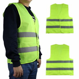 gilet de securit jaune fluo moto auto haute visibilite la norme vert 1 ebay. Black Bedroom Furniture Sets. Home Design Ideas