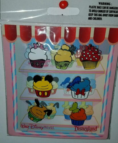 Disney Parks Character Cupcake 7 Pin Booster Pack Set Mickey
