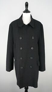 BANANA-REPUBLIC-Womens-Gray-Double-Breasted-Wool-Blend-Coat-Jacket-Size-Large