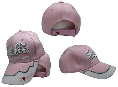 Herren-accessoires Besorgt Jesus Christus Christian Eternally Erfrischendes Pink Bestickt Kappe Hut Cap818a