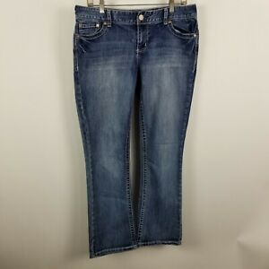 Maurices-Boot-Cut-Womens-Dark-Wash-Blue-Jeans-Size-11-12-Short