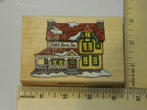 Bedford-House-Inn-Jackie-Fretichs-Christmas-Collection-Inkadinkado-Rubber-Stamp