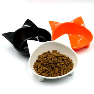 Stress-Free Cat Bowl Wide Dish Non Slip Safe Material for Relief Whisker Fatigue