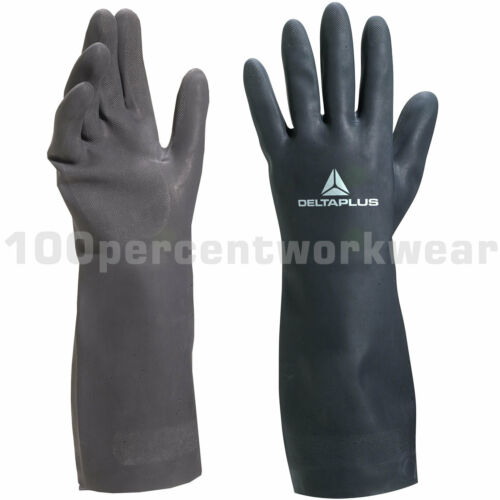 12 x Delta Plus TOUTRAVO 510 Safety Neoprene Gauntlet Gloves Waterproof Chemical