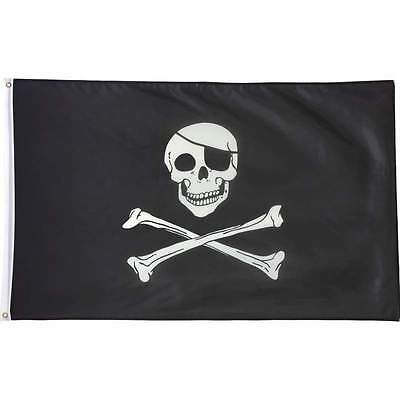 Flag 3ft x 5ft Eye Patched Pirate Flag *The Skull and Cross Bones*