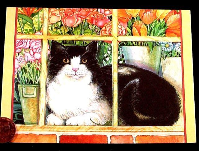 New Modern Postcard Good Morning Art Cat Kitty Kitten Puss Persis Clayton Weir