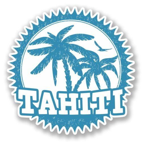 2 x tahiti vinyle autocollant ordinateur portable voyage bagage voiture #5541
