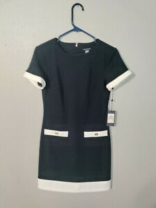 Tommy Hilfiger faux pocket Blue Navy shift dress Yellow New NWT 2