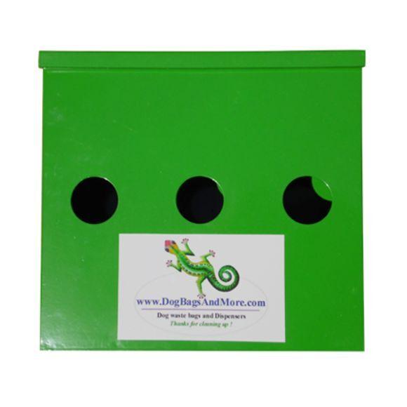 3 Roll Dog Waste Bag Dispenser + 4000 Biodegradable Bags 1mil + Pickup Sign  96