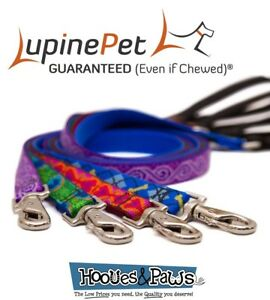 Dog-Leash-Lupine-Pet-Lifetime-6-Foot-Lead-3-4-034-or-1-034-Puppy-Original-Designs
