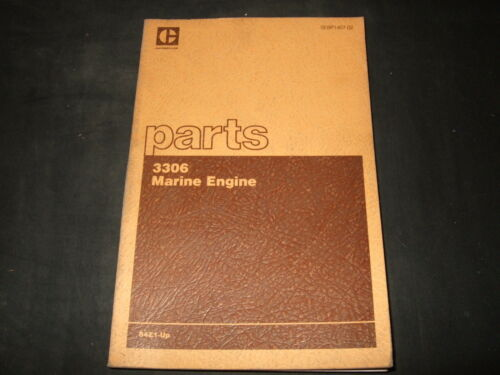 CAT CATERPILLAR 3306 MARINE ENGINE PARTS BOOK MANUAL S//N 84Z1-UP