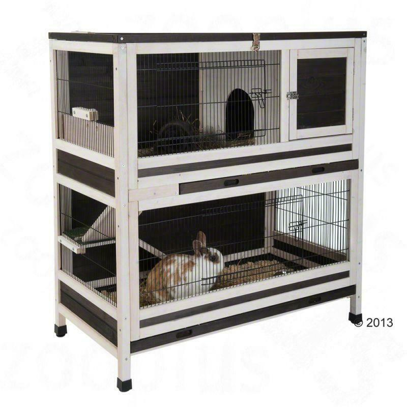 Large Wooden Cage For Small Pets Outdoor Indoor Hutch Rabbit Guinea Pig House
