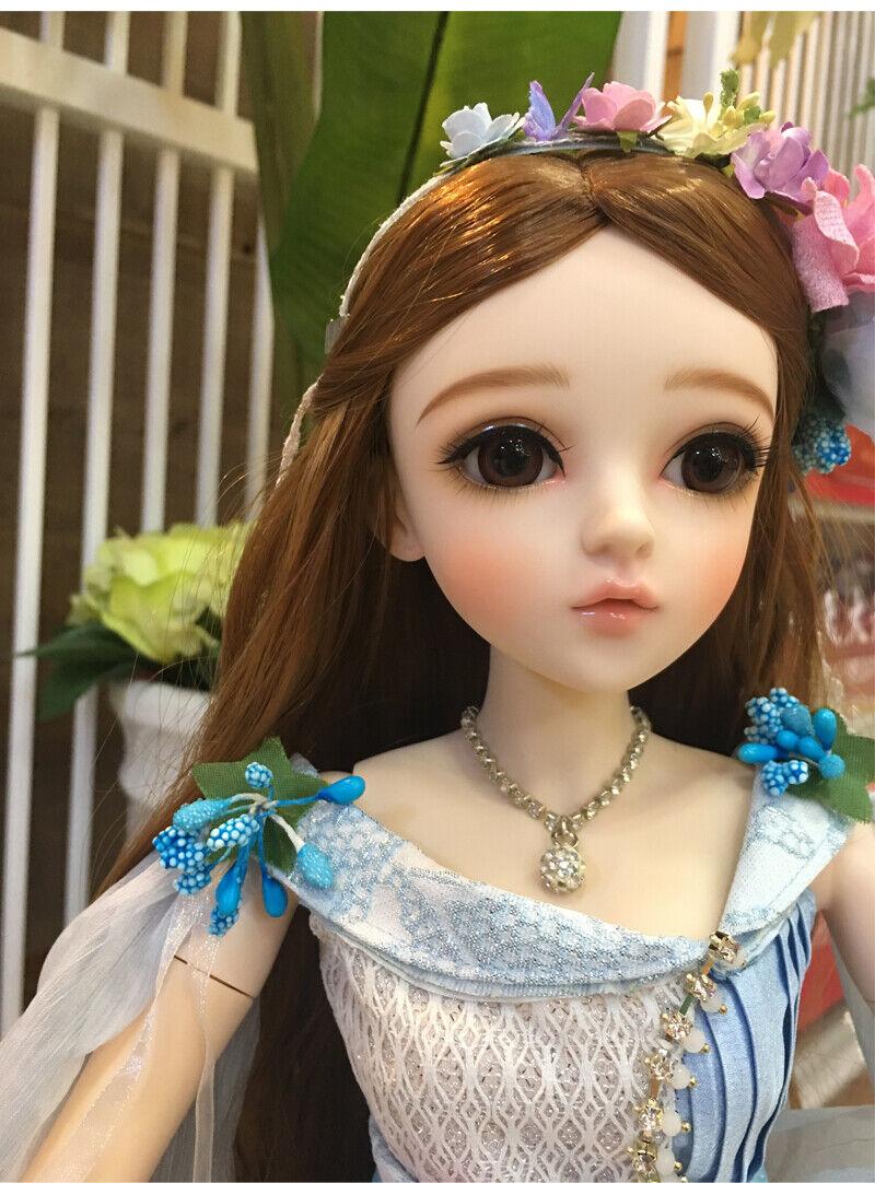 Nuevo 1 3 PVC hecho a mano muñecas articulación de muñeca de BJD MSD realista Bebé Regalo Christina 24