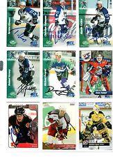 NHL/DEL Trading Cards---9 unterschriebene Cards von Ex DEL Spielern