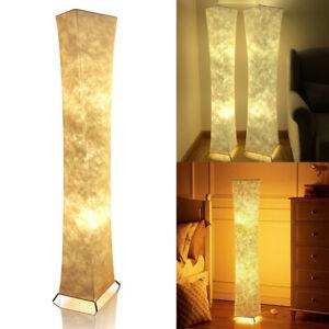 Uk Standard Lamp Led Fabric Soft Lighting Floor Lamps Modern Living Room Bedroom Ebay