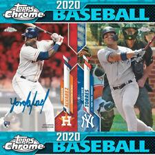 2020 Topps Chrome Baseball Hobby Box (Presale)