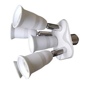 5in1 E27 Socket Adapter Konverter Splitter Fur Led Studio Licht