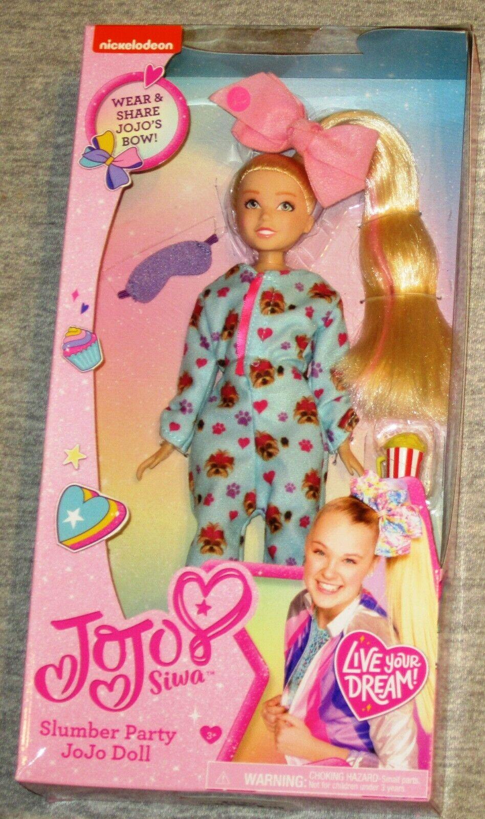 JoJo Siwa Slumber Party Sleepover Doll BowBow Bow Bow PJ's NEW