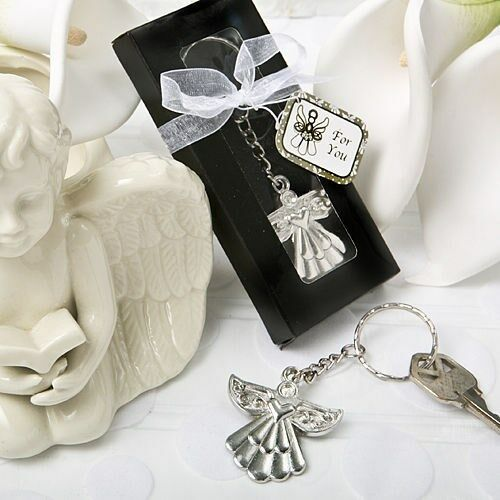 144 Guardian Angel Key Ring Christening Baptism Shower Religious Party Favors