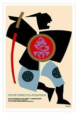 "Cuban movie Poster 4 film""TANGE Samurai""Japan film art.World Graphic Design"