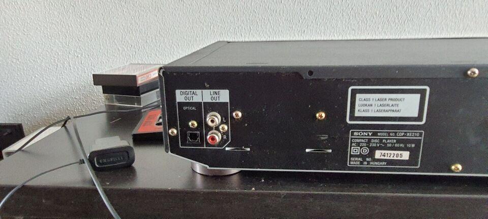 CD afspiller, Sony, Cdp-xe210